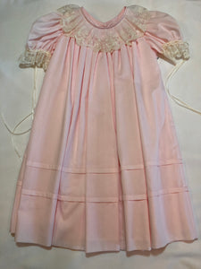 Heirloom Lace Collar Pink Dress - Posh Tots Children's Boutique