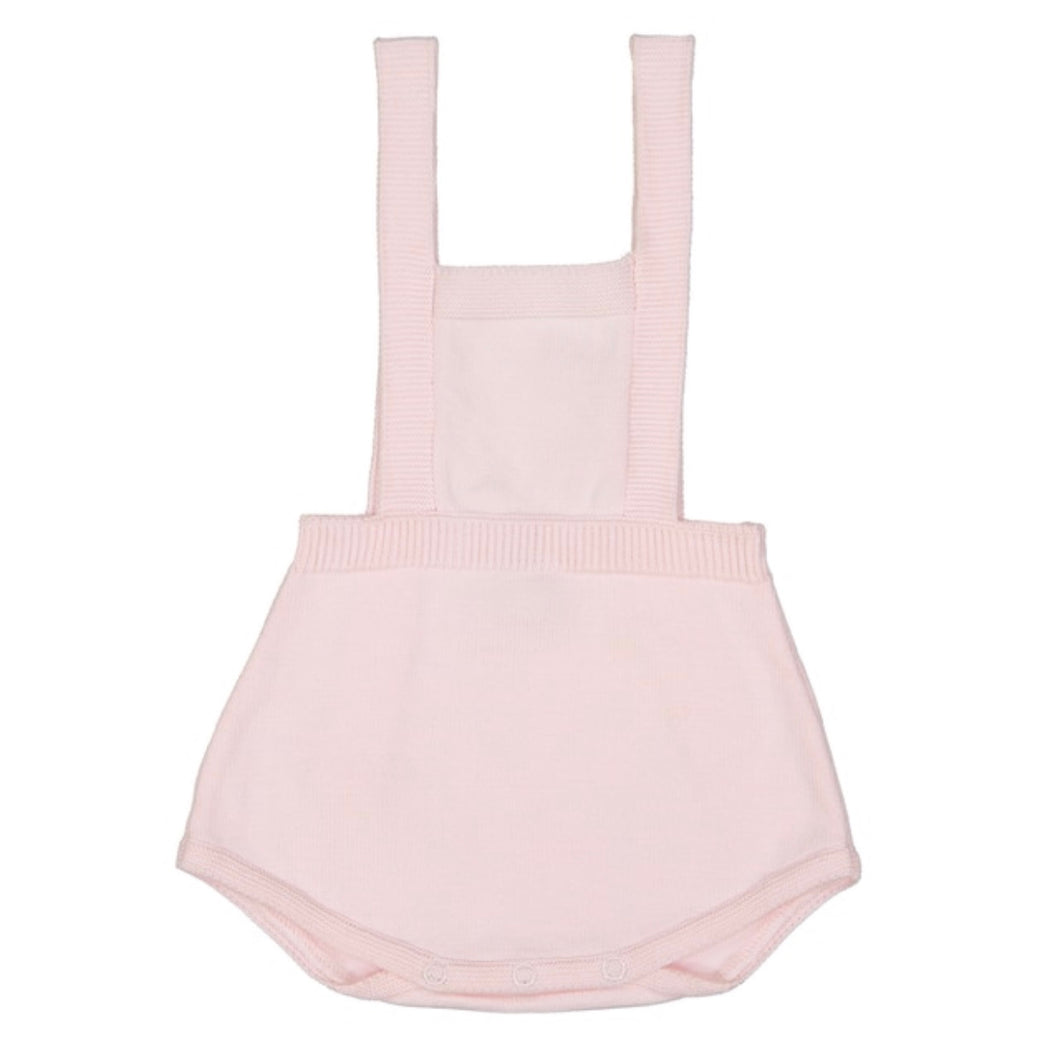 Knit Baby Overalls, Pink - Posh Tots Children's Boutique