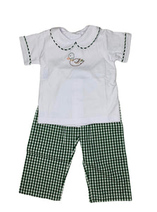 Hunter Green Mallard Pant Set