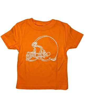 T-Shirt, Short Sleeve Football Helmet - Posh Tots Children's Boutique