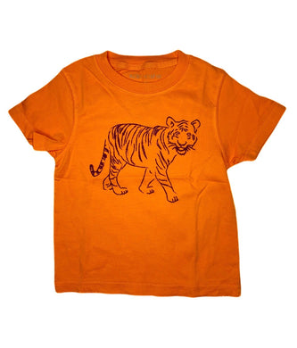 T-Shirt, Short Sleeve Tiger - Posh Tots Children's Boutique