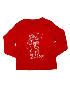 T-Shirt, Long Sleeve Santa - Posh Tots Children's Boutique