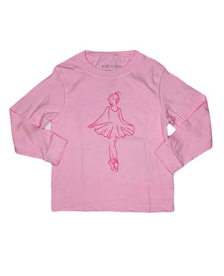 T-Shirt, Long Sleeve Ballerina - Posh Tots Children's Boutique