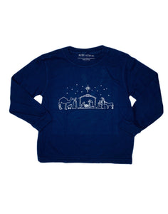 T-Shirt, Long Sleeve Nativity - Posh Tots Children's Boutique