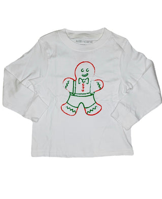 T-Shirt, Long Sleeve Gingerbread Boy