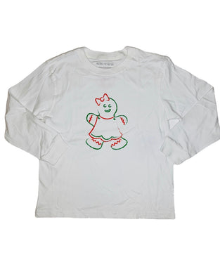 T-Shirt, Long Sleeve Gingerbread Girl - Posh Tots Children's Boutique