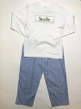 Load image into Gallery viewer, Llamas Smocked Blue Pant Set - Posh Tots Children's Boutique