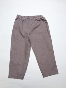 Brown Check Pull On Pants - Boy - Posh Tots Children's Boutique