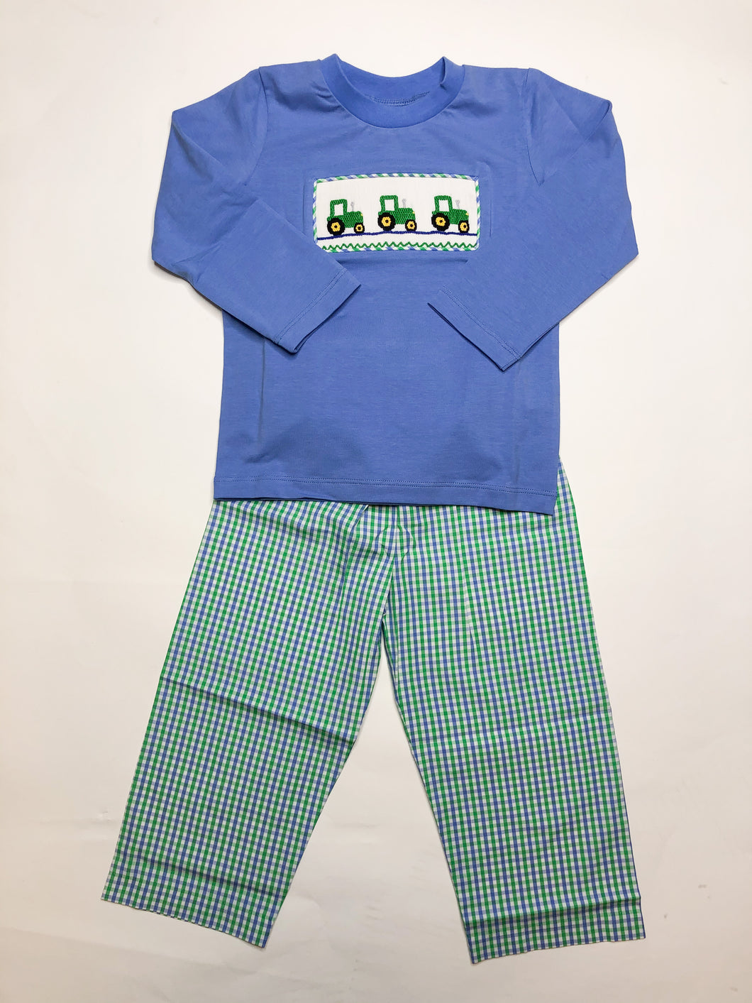 Smocked Tractor Pant Set - Posh Tots Children's Boutique