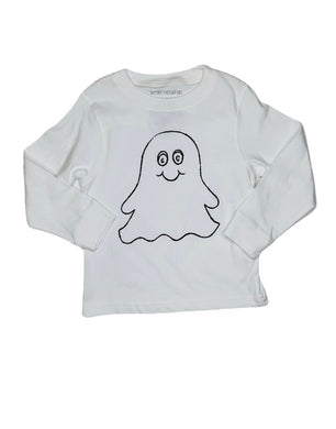 T-Shirt, Long Sleeve Ghost - Posh Tots Children's Boutique