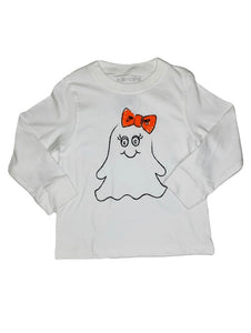 T-Shirt, Long Sleeve Girl Ghost - Posh Tots Children's Boutique
