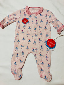 NB Prima Ballerina Magnetic Footie - Posh Tots Children's Boutique
