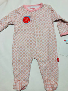 Pink Diamonds Magnetic Footie - Posh Tots Children's Boutique