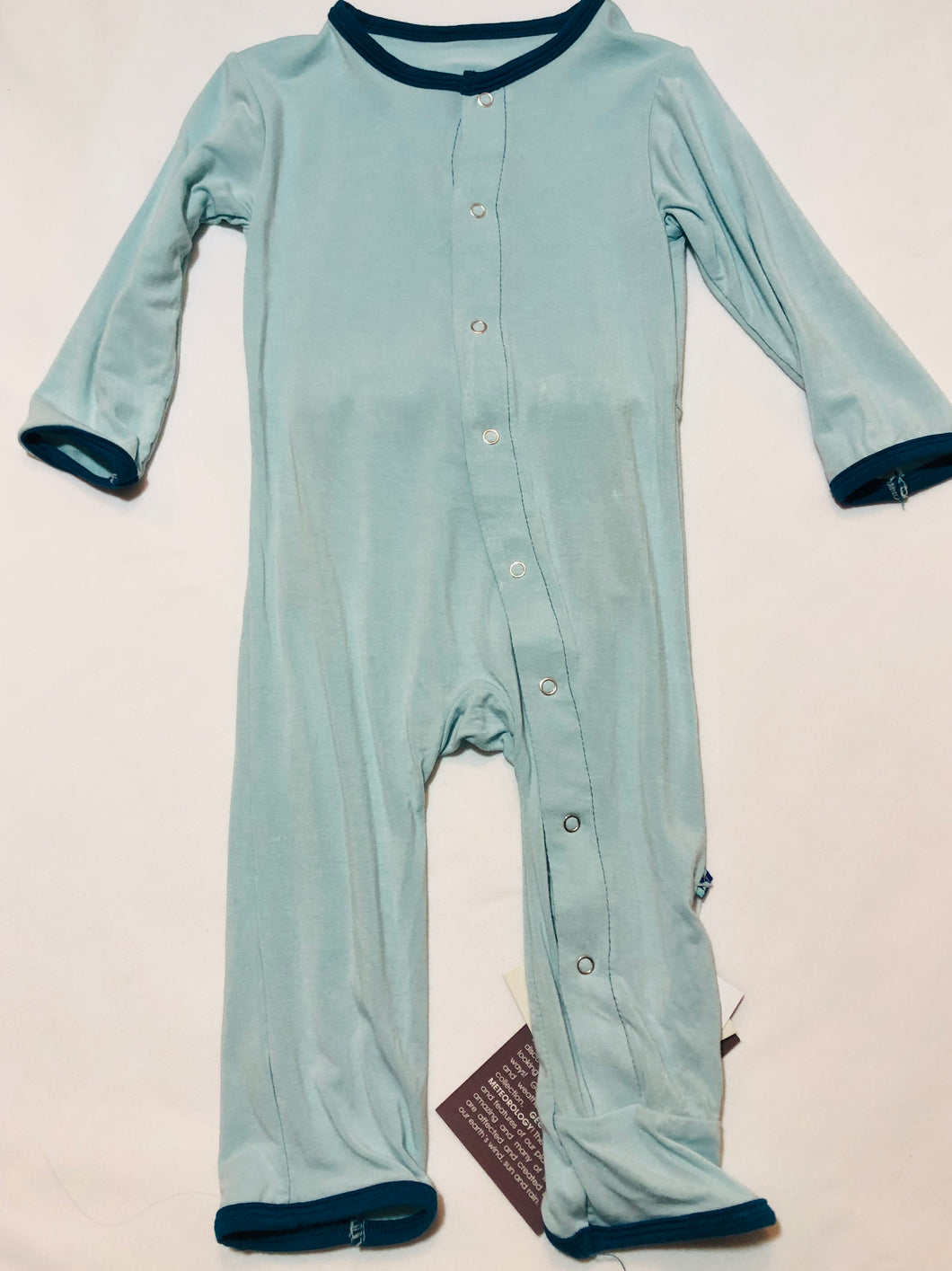 Two Tone Coverall w/Snaps - Posh Tots Children's Boutique