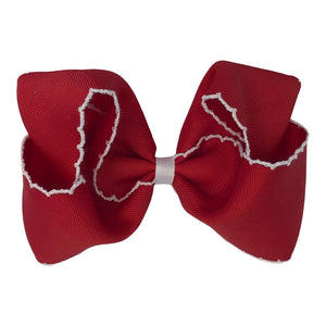 Traditional Moonstitch Bow, Large - Posh Tots Children's Boutique
