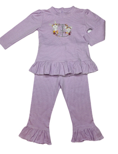 Peace & Love Ruffle Pant Set - Posh Tots Children's Boutique