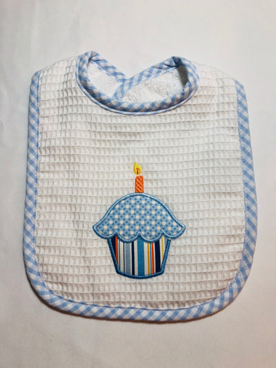 Birthday Cupcake Bib - Posh Tots Children's Boutique