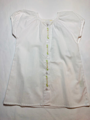 Dainty Daygown w/Pink Flowers - Posh Tots Children's Boutique