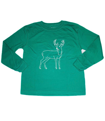 T-Shirt, Long Sleeve Deer - Posh Tots Children's Boutique