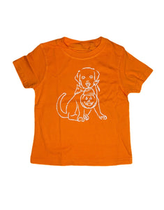 T-Shirt, Short Sleeve Halloween Puppy - Posh Tots Children's Boutique