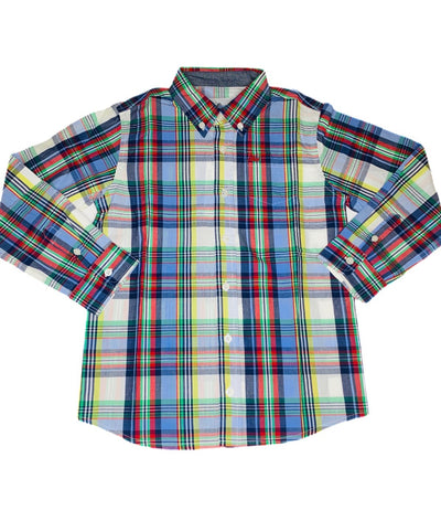 Fall Plaid Dress Shirt - Posh Tots Children's Boutique