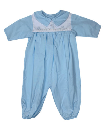 Blue Duckwheel L/S Longall - Posh Tots Children's Boutique