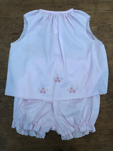 Pink Diaper Set w/Flowers - Posh Tots Children's Boutique