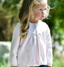 Load image into Gallery viewer, Pearl Flower Embroidered Cardigan - Pink or White - Posh Tots Children's Boutique