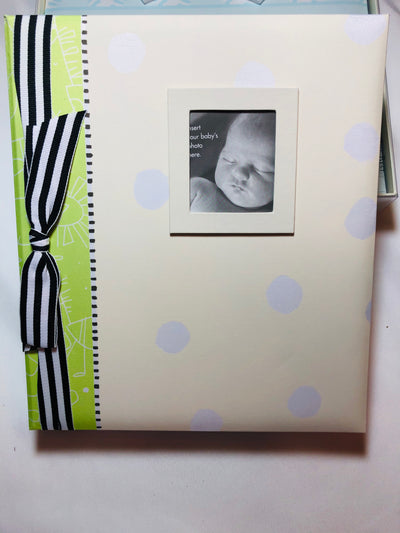 Baby Book - Green - Posh Tots Children's Boutique