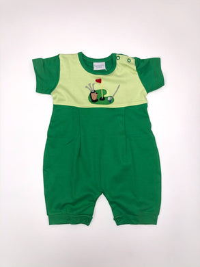Golf Green Romper - Posh Tots Children's Boutique