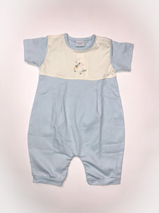 Bunny with Carrot Boy Romper - Posh Tots Children's Boutique