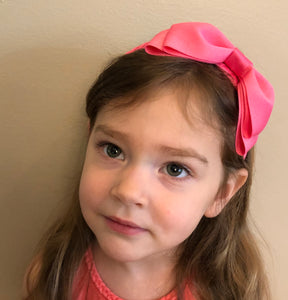 Grosgrain Headband w/Bow - Asst'd Colors - Posh Tots Children's Boutique