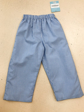 Blue Windowpane Pants