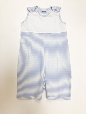 Blue & White Stripe Sleeveless Sunsuit