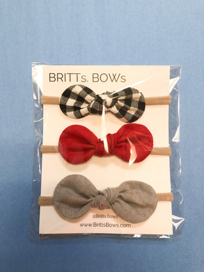 Pack of 3 Small Knot Headbands