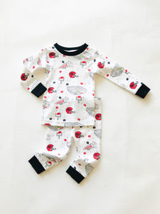 Georgia Football Organic Cotton Pajamas - Posh Tots Children's Boutique
