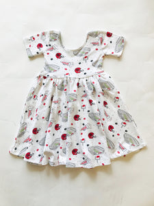 Georgia Football Organic Cotton Dress - Posh Tots Children's Boutique