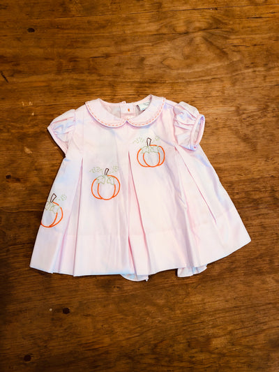 Pink Pumpkin Dress - Posh Tots Children's Boutique