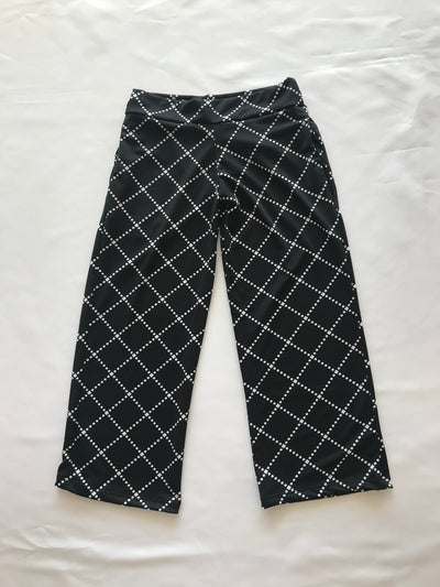 Black & White Gaucho Pants - Posh Tots Children's Boutique