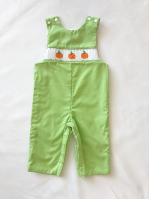 Pumpkin Lime Green Long Jon Jon - Posh Tots Children's Boutique