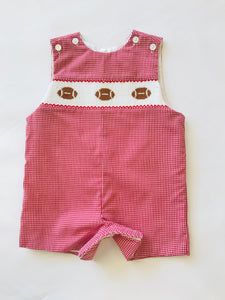Football Red Mini-Check Shortall - Posh Tots Children's Boutique