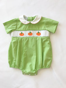 Pumpkin Lime Green Bubble - Posh Tots Children's Boutique