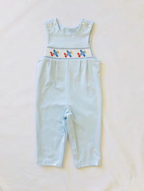Smocked Airplane Jon Jon - Posh Tots Children's Boutique