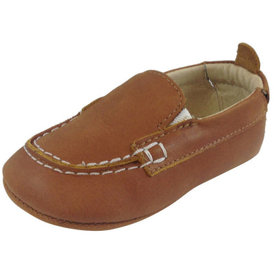 Baby Boat Shoe, Tan - Posh Tots Children's Boutique