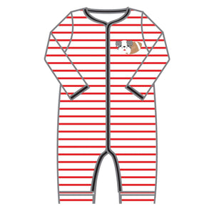 Love Bulldog Applique Playsuit - Posh Tots Children's Boutique