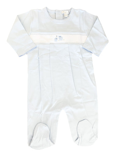 Embroidered Lamb Footie - Posh Tots Children's Boutique