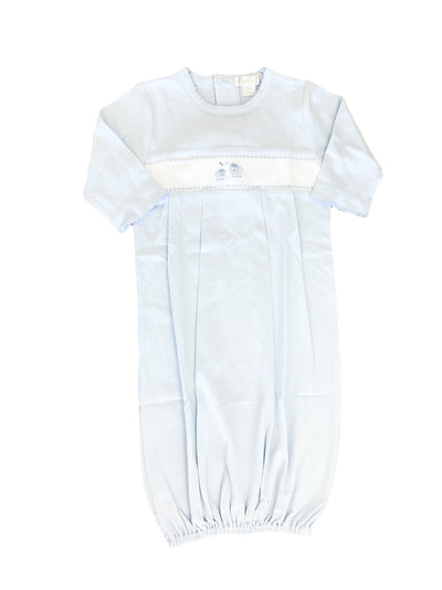 Embroidered Lamb Sack - Blue - Posh Tots Children's Boutique
