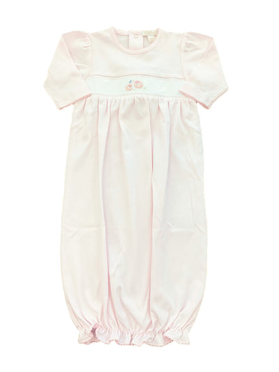 Embroidered Lamb Sack - Pink - Posh Tots Children's Boutique
