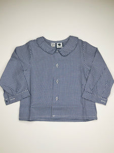 Houndstooth Peter Pan Collar Shirt