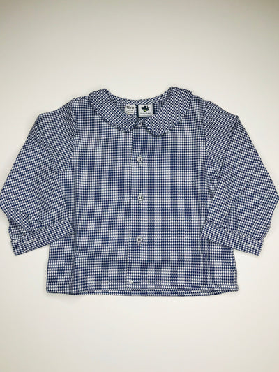 Houndstooth Peter Pan Collar Shirt - Posh Tots Children's Boutique